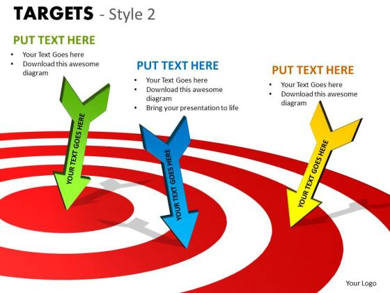 Marketing Diagram Targets Style 2 Sales Diagram
