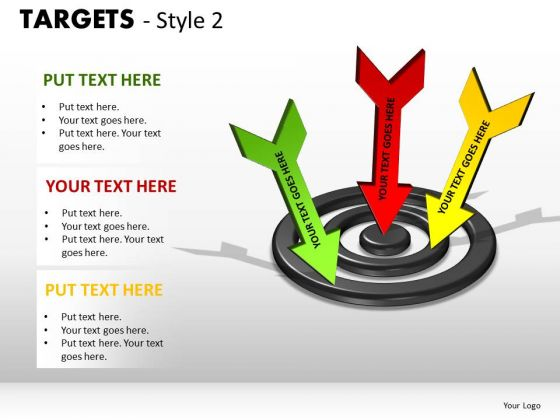 Marketing Diagram Targets Style 2 Strategy Diagram