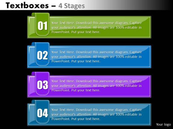 Marketing Diagram Textboxes 4 Stages Diagram Sales Diagram