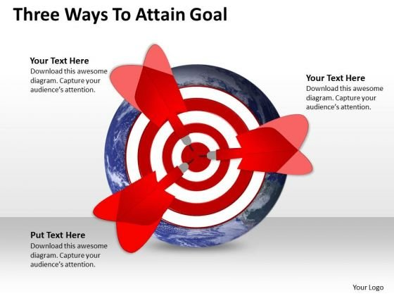 Marketing Diagram Three Ways To Attain Goal Sales Diagram
