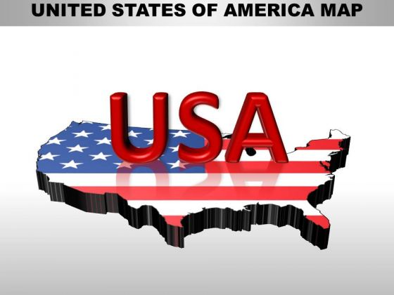 Marketing Diagram Usa Country Maps Business Framework Model