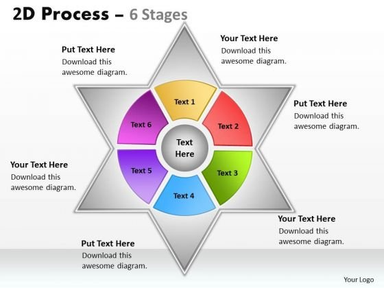 Mba Models And Frameworks 2d Mixed Process Diagram With 6 Stages Strategy Diagram