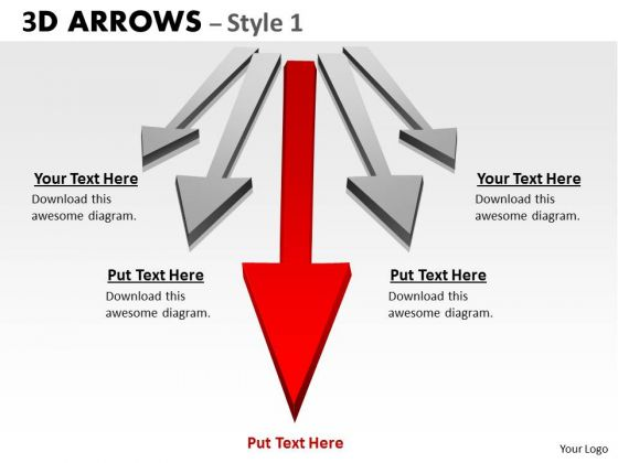 Mba Models And Frameworks 3d Arrows Styli 5 Consulting Diagram