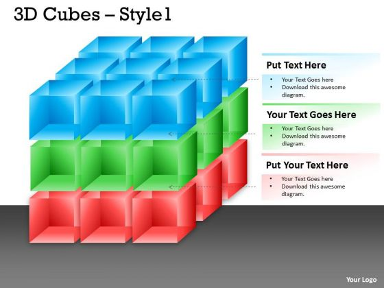 Mba Models And Frameworks 3d Colorful Cubes With Arrows Strategic Management