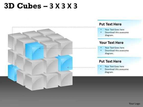 Mba Models And Frameworks 3d Cubes 3x3x3 Strategy Diagram