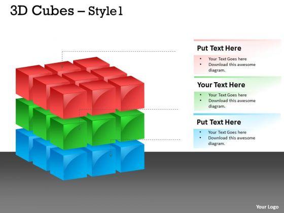 Mba Models And Frameworks 3d Cubes Daigram Business Diagram