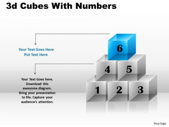 Mba Models And Frameworks 3d Cubes With Numbers Business Diagram