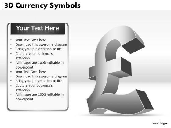 Mba Models And Frameworks 3d Currency Symbols Marketing Diagram