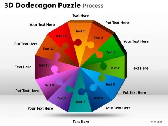 Mba Models And Frameworks 3d Dodecagon Puzzle Process Marketing Diagram