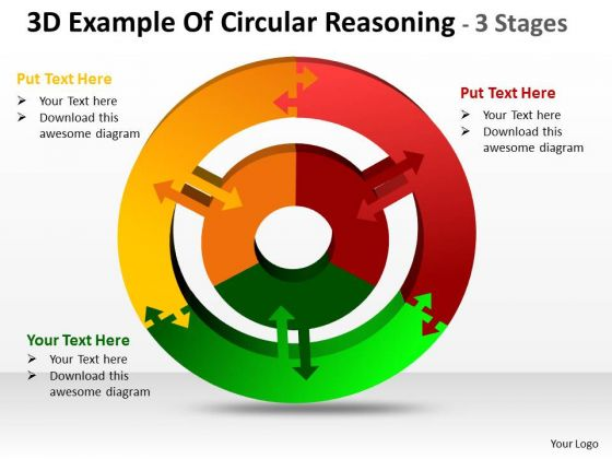 Mba Models And Frameworks 3d Example Of Circular Diagram Reasoning 3 Stages Consulting Diagram