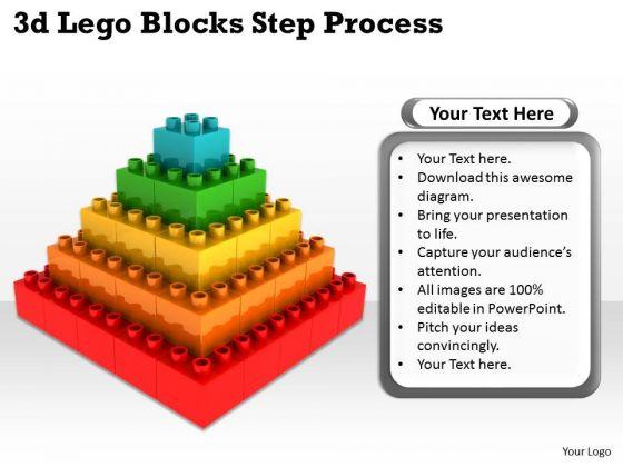 Mba Models And Frameworks 3d Lego Blocks Step Process Strategy Diagram