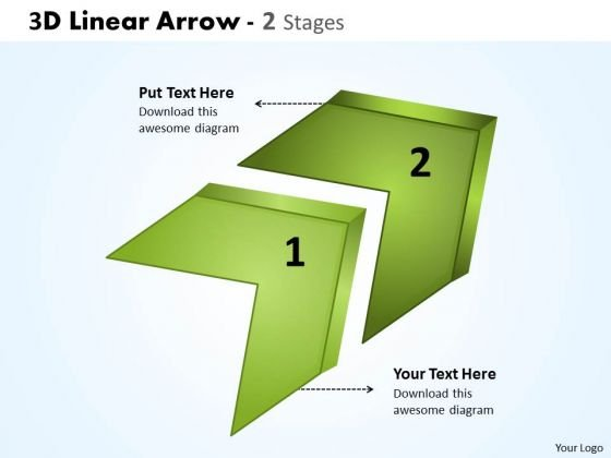 Mba Models And Frameworks 3d Linear Arrow 2 Stages