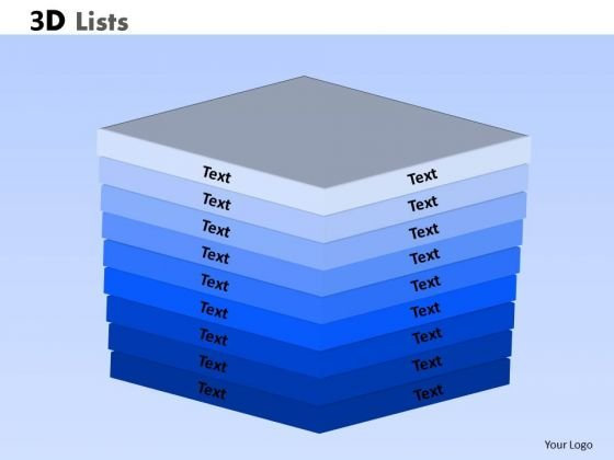 Mba Models And Frameworks 3d Lists PowerPoint Slide Sales Diagram