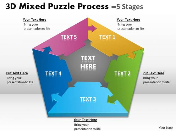 Mba Models And Frameworks 3d Mixed Puzzle Process Marketing Diagram