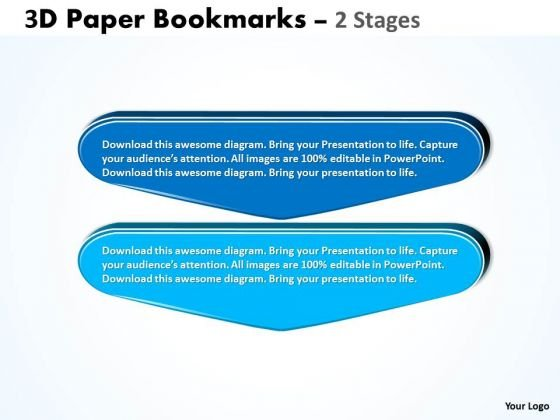Mba Models And Frameworks 3d Paper Bookmarks 2 Stages Marketing Diagram