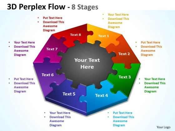 Mba Models And Frameworks 3d Perplex Diagram Flow 8 Stages Business Cycle Diagram