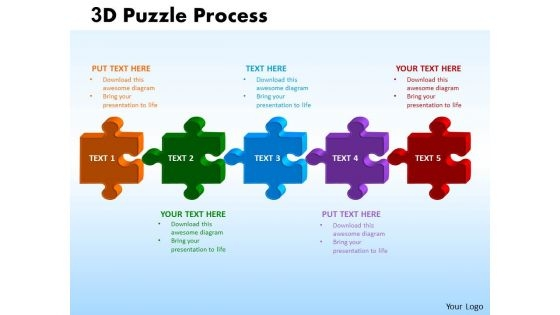 Mba Models And Frameworks 3d Puzzle Process Business Diagram