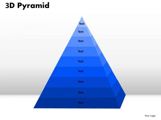 Mba Models And Frameworks 3d Pyramid With Multiple Stages Sales Diagram