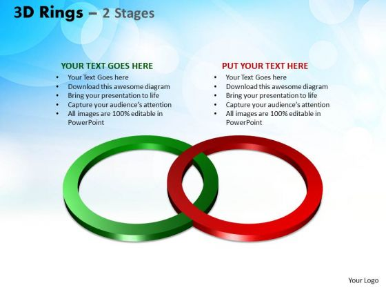 Mba Models And Frameworks 3d Rings 2 Stages Sales Diagram