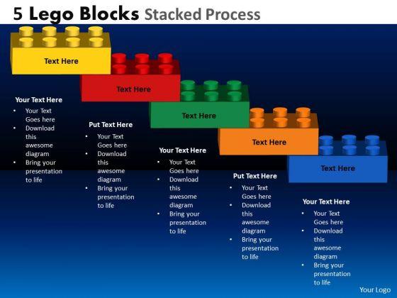 Mba Models And Frameworks 5 Lego Blocks Stacked Process Marketing Diagram