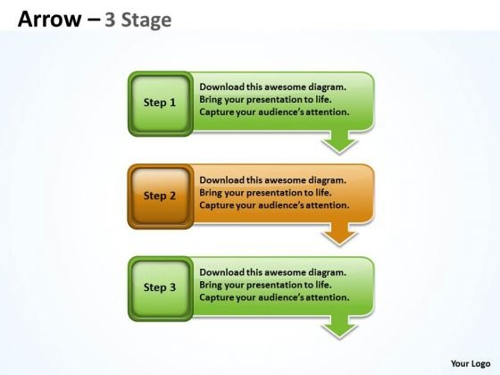 Mba Models And Frameworks Arrow Business 3 Stages Marketing Diagram