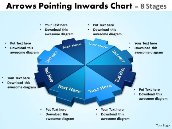 Mba Models And Frameworks Arrows Pointing Inwards Chart 8 Stages Marketing Diagram
