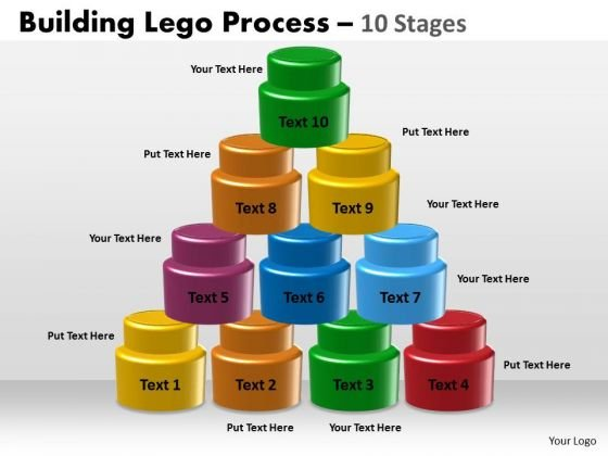 Mba Models And Frameworks Building Lego Process 10 Stages Consulting Diagram