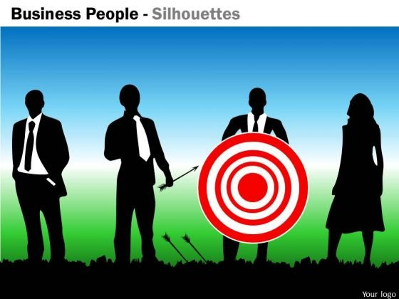 Mba Models And Frameworks Business People Silhouettes Business Diagram