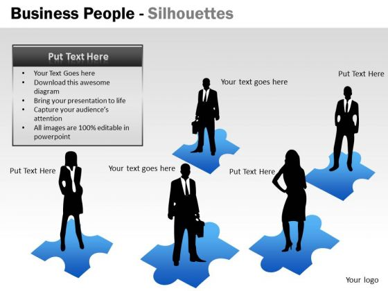 Mba Models And Frameworks Business People Silhouettes Sales Diagram