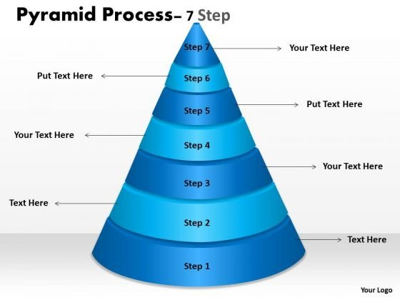 Mba Models And Frameworks Business Pyramid For Process With 7 Steps Strategy Diagram