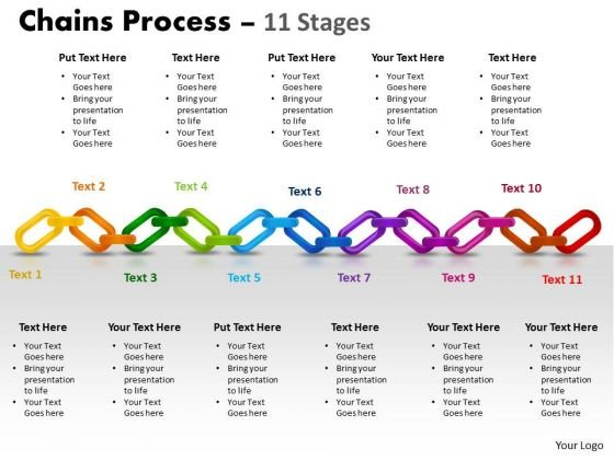 Mba Models And Frameworks Chains Process 11 Stages Business Diagram