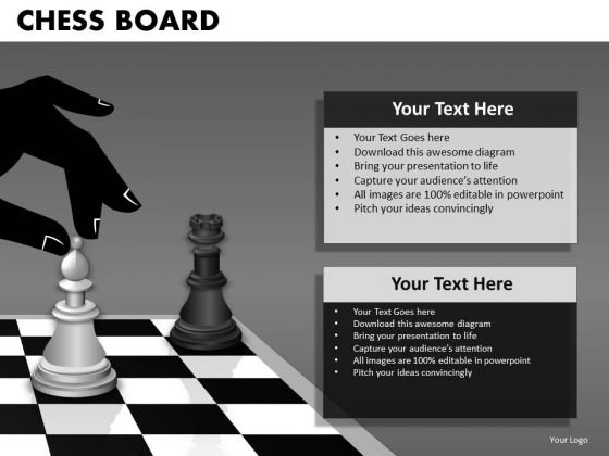 Mba Models And Frameworks Chess Board Business Diagram