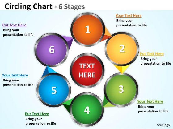 Mba Models And Frameworks Circling Chart 6 Degrees Strategy Diagram
