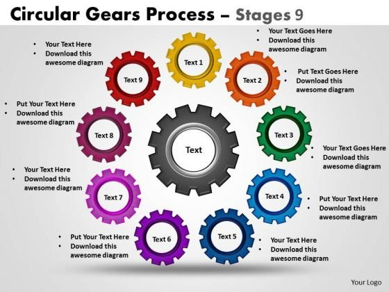 Mba Models And Frameworks Circular Gears Flowchart Process Diagram Stages 9 Sales Diagram