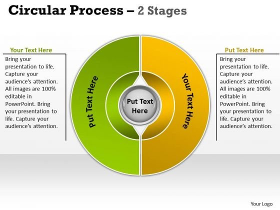 Mba Models And Frameworks Circular Process 2 Stages Sales Diagram