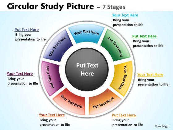 Mba Models And Frameworks Circular Study Picture 7 Stages Sales Diagram