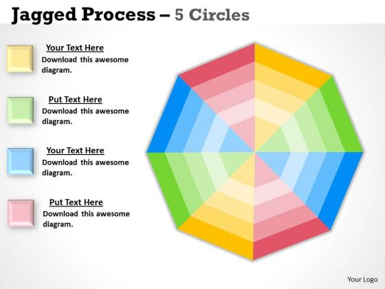 Mba Models And Frameworks Concentric 5 Stages Strategy Diagram