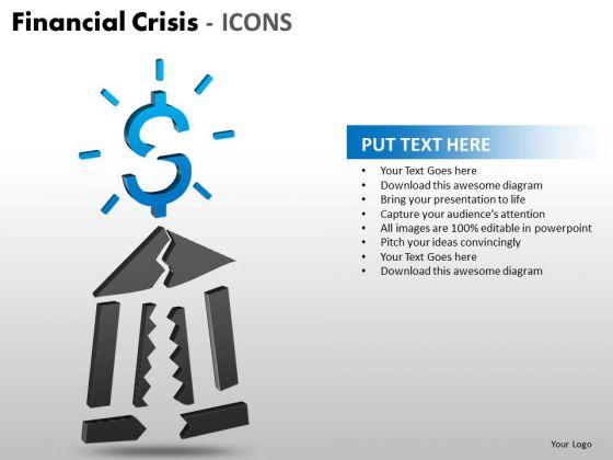 Mba Models And Frameworks Financial Crisis Icons Marketing Diagram