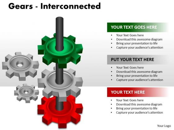 Mba Models And Frameworks Gears Interconnected Sales Diagram