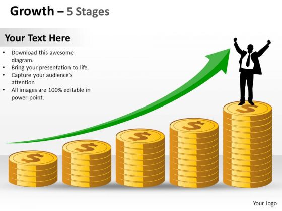 Mba Models And Frameworks Growth 5 Stages Marketing Diagram