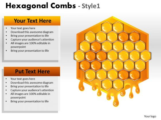 Mba Models And Frameworks Hexagonal Combs Marketing Diagram