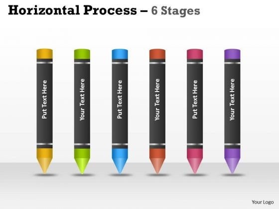 Mba Models And Frameworks Horizontal Process 6 Stages Strategy Diagram