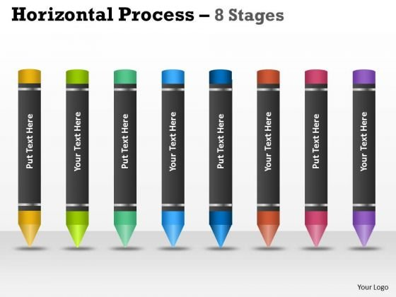 Mba Models And Frameworks Horizontal Process 8 Stages Strategy Diagram