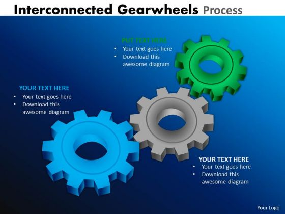 Mba Models And Frameworks Interconnected Gearwheels Process Strategy Diagram