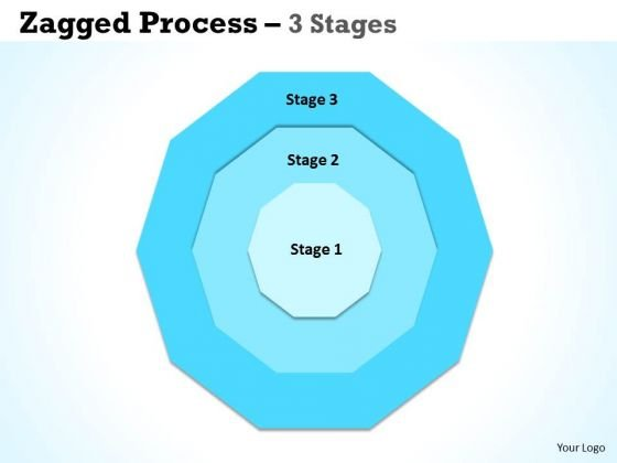 Mba Models And Frameworks Jagged Proces 3 Stages Business Diagram