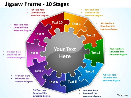 Mba Models And Frameworks Jigsaw Frame 10 Diagram Stages Business Framework Model