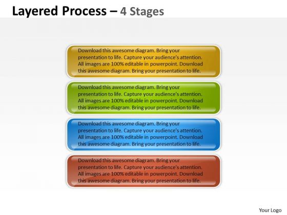 Mba Models And Frameworks Layered Process 4 Steps Diagram Strategy Diagram