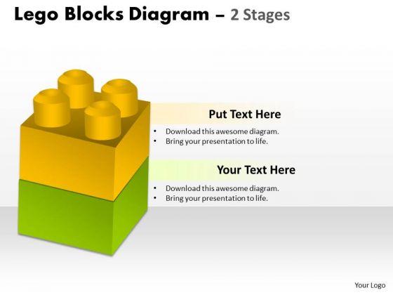 Mba Models And Frameworks Lego Blocks Diagram 2 Stages Business Diagram