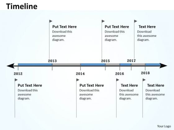 Mba Models And Frameworks Linear Timeline And Roadmap For Business Marketing Diagram