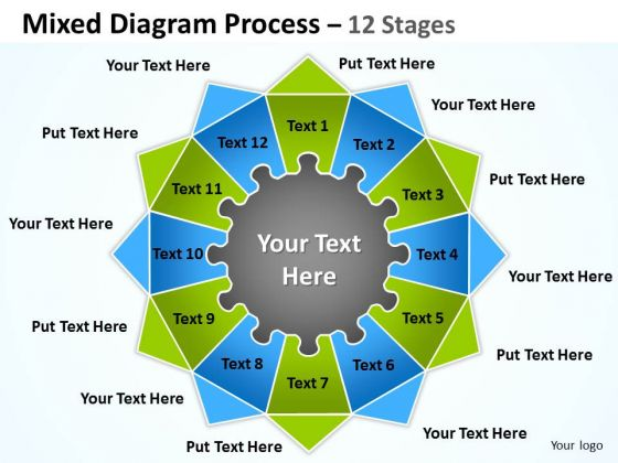 Mba Models And Frameworks Mixed Diagram Process 12 Stages For Strategy Marketing Diagram